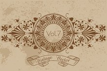 21 Vintage Vector Frames Vol7
