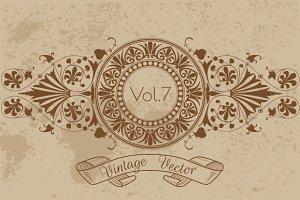 21 Vintage Vector Frames Vol7