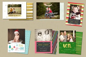 Christmas Card Template Bundle