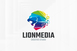 Lion Media Logo Template