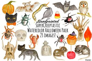 Watercolor Halloween Superpack