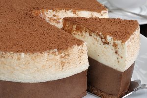 Piece of mousse cake