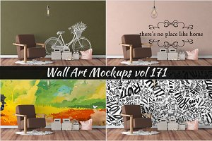 Wall Mockup - Sticker Mockup Vol 171