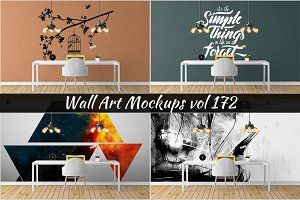 Wall Mockup - Sticker Mockup Vol 172