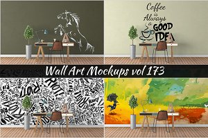 Wall Mockup - Sticker Mockup Vol 173