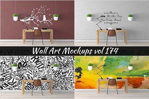 Wall Mockup - Sticker Mockup Vol 174