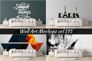 Wall Mockup - Sticker Mockup Vol 175