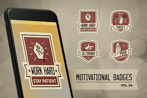 Motivational badge design vol. 04
