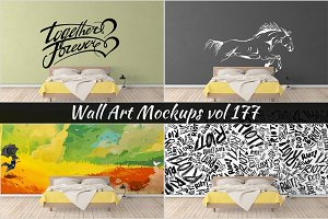 Wall Mockup - Sticker Mockup Vol 177