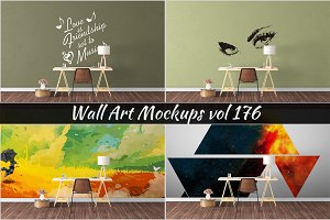 Wall Mockup - Sticker Mockup Vol 176