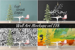 Wall Mockup - Sticker Mockup Vol 178