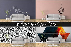 Wall Mockup - Sticker Mockup Vol 179