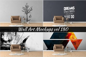 Wall Mockup - Sticker Mockup Vol 180