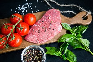 Beef steak with spices