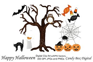 Halloween Clip Art with Vectors