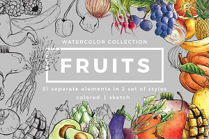 Fruits - Watercolor collection
