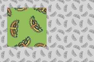 Seamless Chinese Butterflies Pattern