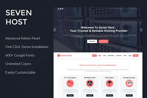 Seven Host - Hosting WordPress Theme