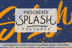 Splash Textures for Procreate App