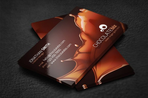 Chocolate business card business card templates creative market colourmoves