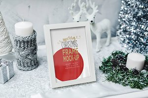 Christmas Frame Mock-Up