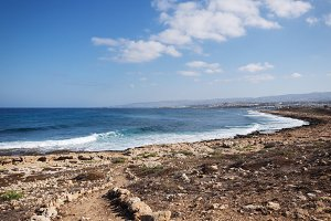 Mediterranean seashore near Kato Pafos, Cyprus