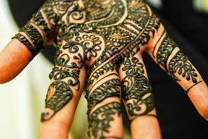 Henna Design Close Up