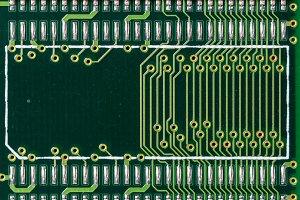 Detail of a printed circuit board 1