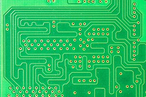 Detail of a printed circuit board 5