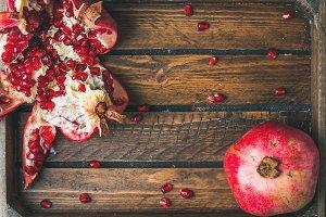 Fresh ripe pomegranates