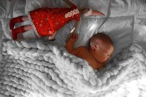 Cute newborn baby sleeps