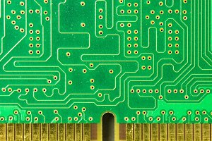 Detail of a printed circuit board 6