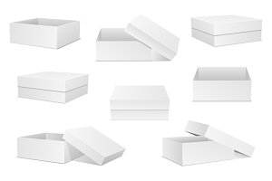 White box. Set of boxes.