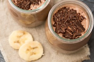 Chocolate pudding with chia seed