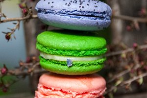 Colorful Stacked Macarons