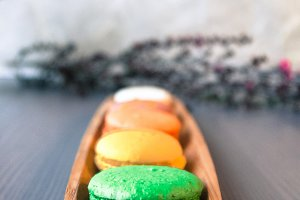 Vintage Colorful Macarons