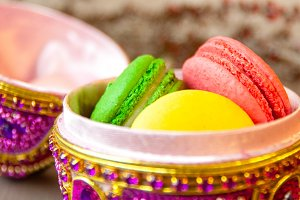 Gemstone Easter Egg Macarons
