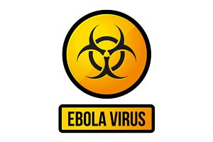 Ebola Yellow Danger Sign