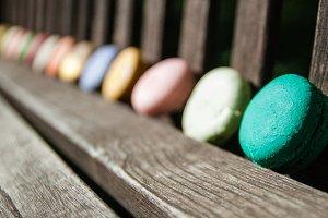 Closeup of Macarons