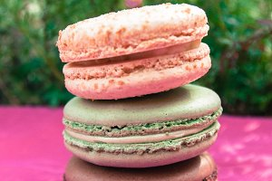 Large Pastel Stacked Macarons