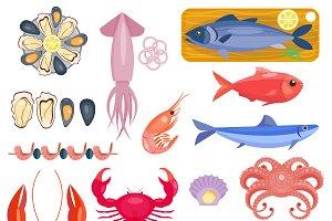 Gourmet delicious restaurant seafood