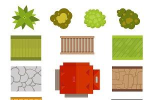 Landscape city constructor vector