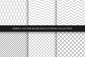 Seamless geometric minimal patterns.