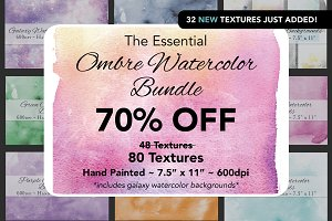 Essential Ombre Watercolor Bundle
