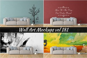 Wall Mockup - Sticker Mockup Vol 181
