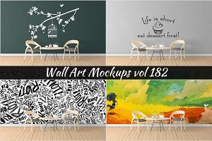 Wall Mockup - Sticker Mockup Vol 182
