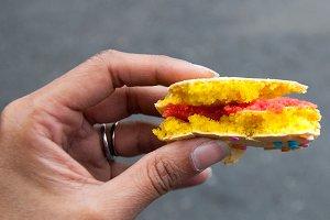 Yummy Macaron - Half Eaten