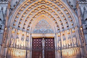 Gothic Portal of Barcelona Cathedral