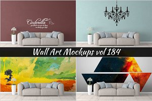 Wall Mockup - Sticker Mockup Vol 184