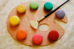Art palette of Macarons